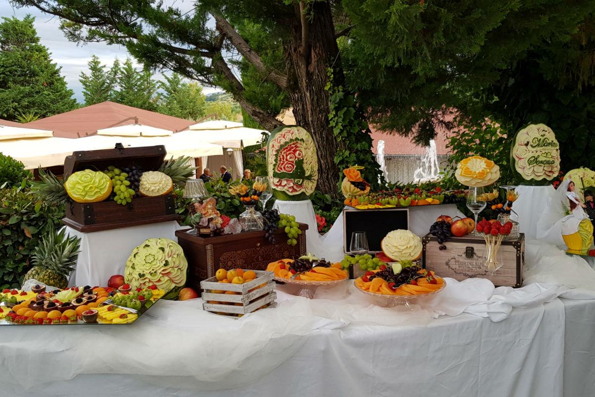 Buratti catering buffet di frutta