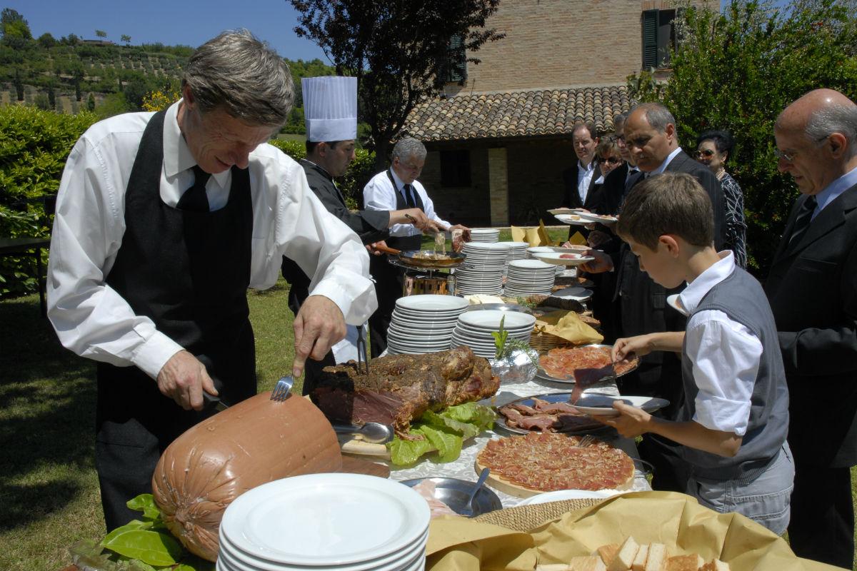 Buratti catering buffet rustico