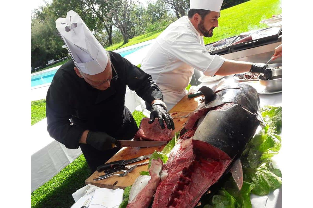 Buratti catering cottura a vista tonno