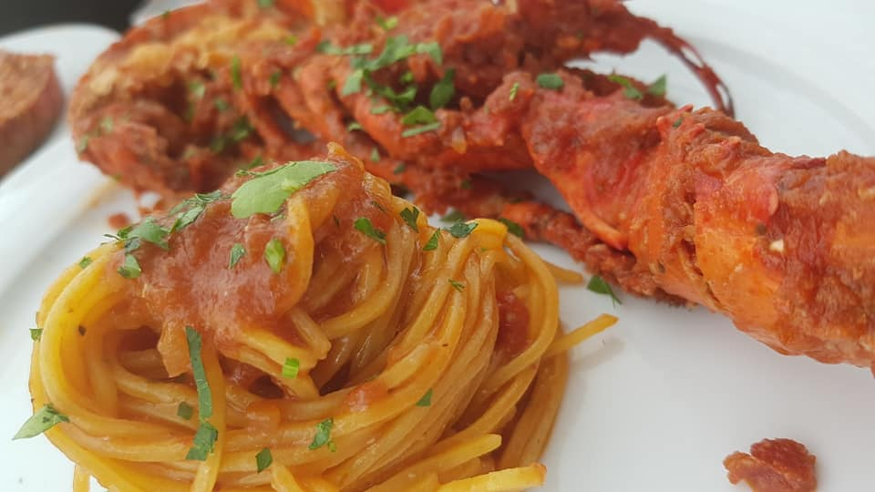 Buratti catering linguine all'astice